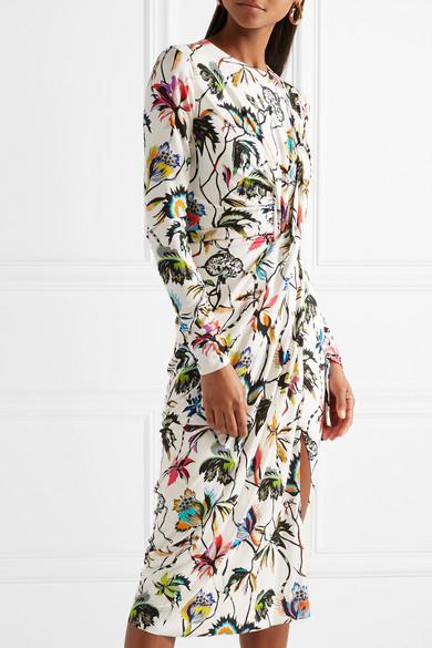 Ebay Verkauf Online Geniue Händler Verkauf Online Jason Wu Gerafftes Kleid aus Stretch-Jersey mit Blumenprint Große Überraschung Günstiger Preis kDJXv
