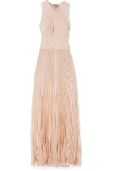 Jason Wu | Chiffon-trimmed plissé silk-organza gown | NET-A-PORTER.COM
