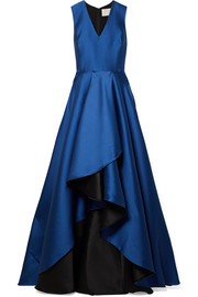 Jason Wu Asymmetric satin-crepe gown
