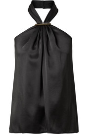 Jason Wu Embellished satin halterneck top