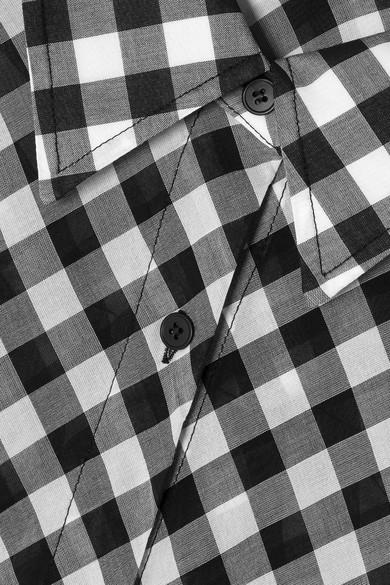 McQ Alexander McQueen Kleid aus Baumwoll-Voile mit Gingham-Karo