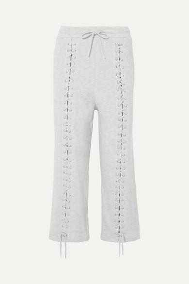 McQ Alexander McQueen Jogginghose aus Jersey aus einer Baumwollmischung mit Schnürdetails