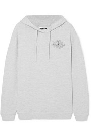 McQ Alexander McQueen Embellished cotton-blend terry hooded top