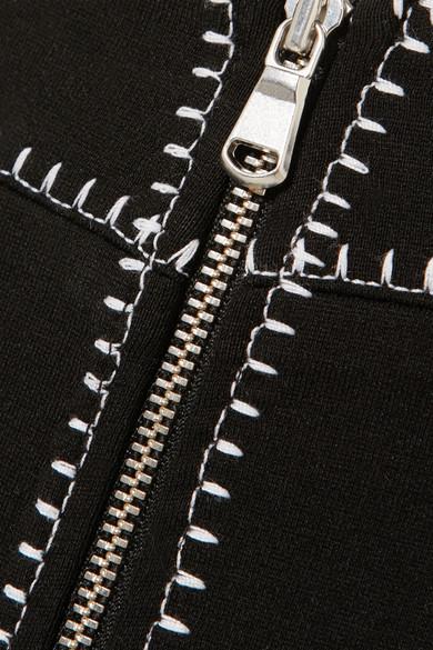 McQ Alexander McQueen Bestickter Minirock aus Stretch-Jersey Günstig Kaufen Beliebt PdrgDyWjWE