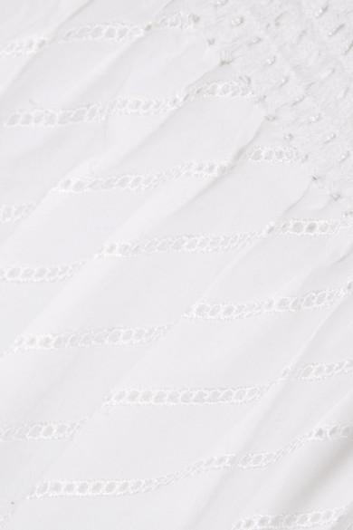 McQ Alexander McQueen Midirock aus Baumwolle mit Lochstickerei