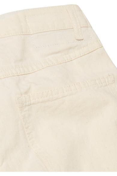 McQ Alexander McQueen Atami verkürzte, hoch sitzende Jeans mit Bundfalten