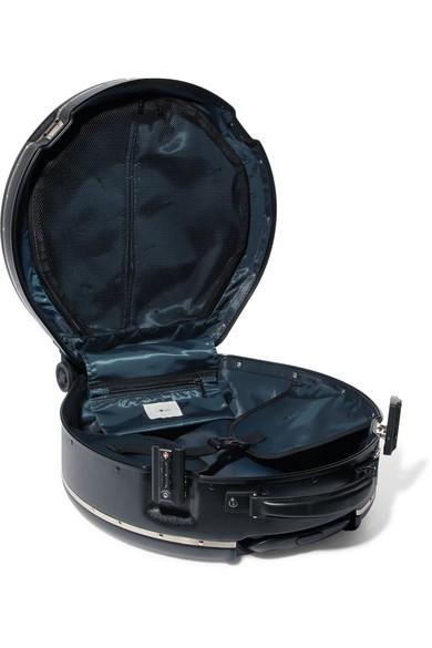 Ookonn Bedruckter Hartschalenkoffer mit Lederbesatz