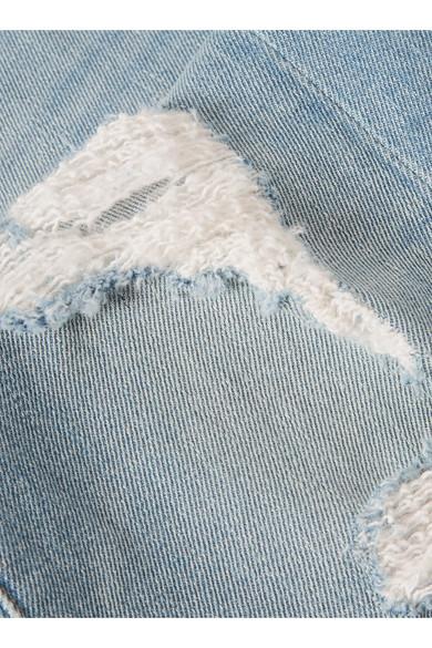 FRAME Le Boy hoch sitzende Jeans mit schmalem Bein in Distressed-Optik