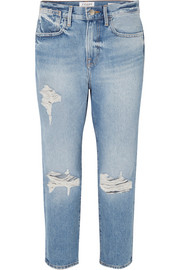 Le Stevie Crop distressed boyfriend jeans