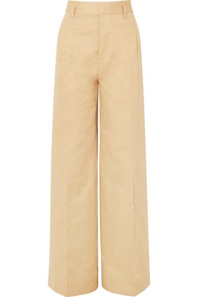 FRAME Hose mit weitem Bein aus einer Baumwoll-Leinenmischung