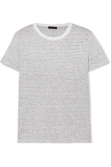 ATM Anthony Thomas Melillo Schoolboy T-Shirt aus Leinen-Jersey mit Flammgarneffekt
