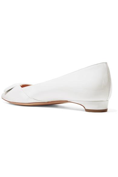 Rupert Sanderson Aga flache Schuhe mit spitzer Kappe aus Lackleder