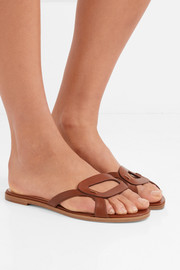 Maeve cutout leather slides
