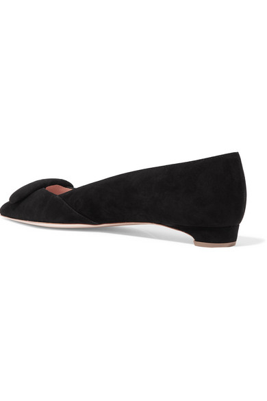 Rupert Sanderson Aga flache Schuhe mit spitzer Kappe aus Veloursleder
