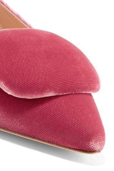 Rupert Sanderson Aga flache Schuhe mit spitzer Kappe aus Samt