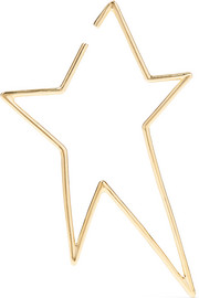 XL Star gold-plated earring