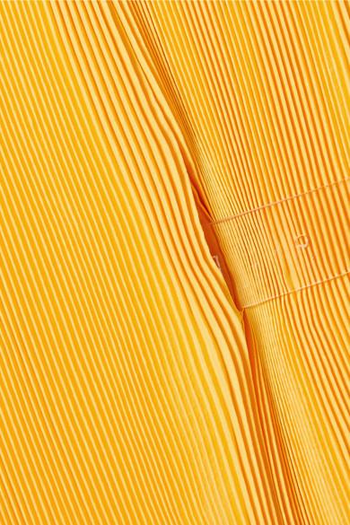 Tibi Midikleid aus plissiertem Satin mit Gürtel Verkauf Limitierter Auflage 2018 Unisex Online Neue Stile Gefälschte Online-Verkauf Amazon Footaction kBmlUILhPg