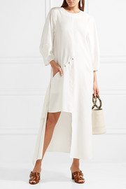 Oversized convertible twill maxi dress
