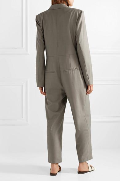 Tibi Doppelreihiger Jumpsuit aus Wolle