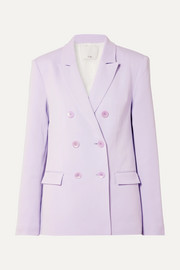 Tibi Double-breasted crepe blazer