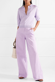 Metallic stretch-knit top