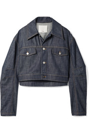 Tibi Cropped denim jacket