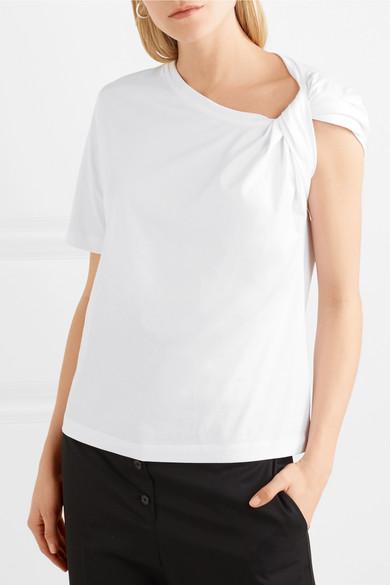 Dion Lee T-Shirt aus Baumwoll-Jersey mit Twist-Detail