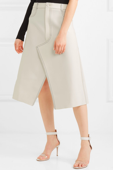 Dion Lee Shadow Stitch Midirock aus bondiertem Crêpe