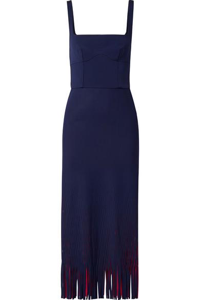 Dion Lee Zweifarbiges Kleid aus Neopren mit Cut-outs