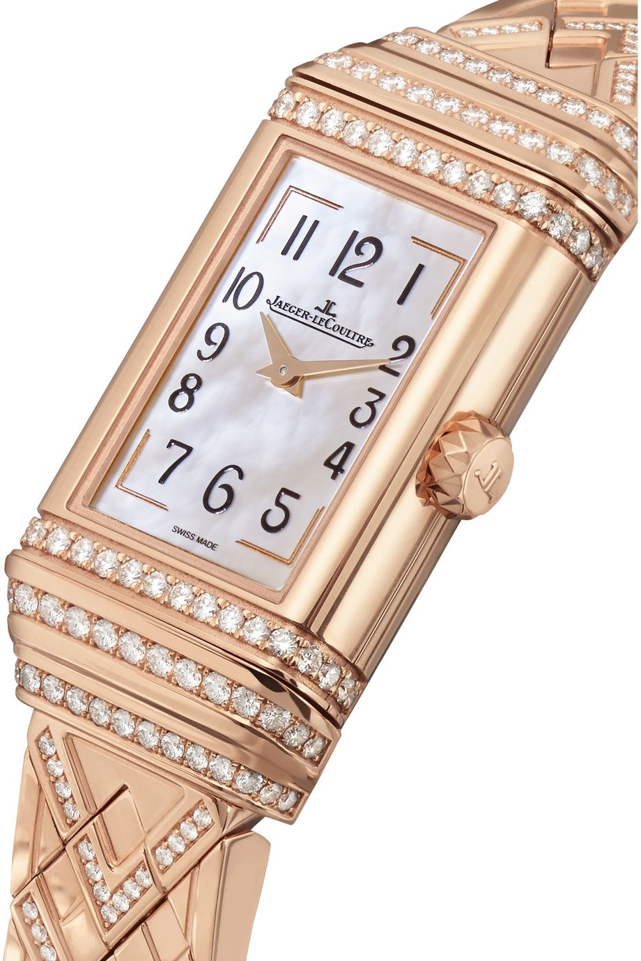 Jaeger-LeCoultre Reverso One Duetto rose gold diamond watch