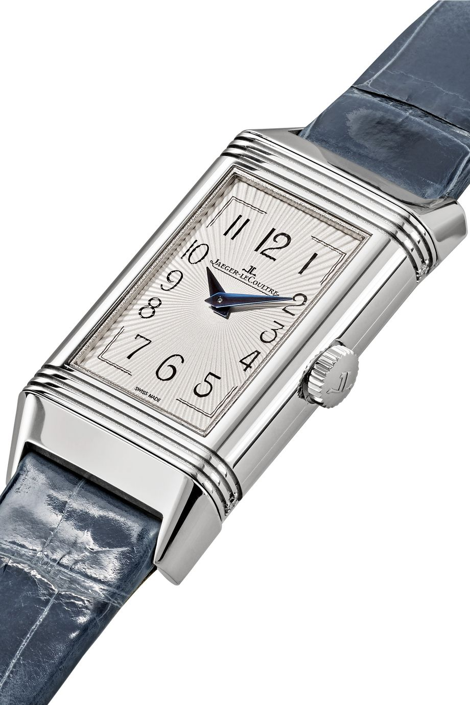 Jaeger-LeCoultre Reverso One Duetto Moon stainless steel, diamond and alligator watch