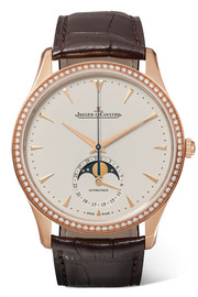 Master Ultra Thin Moon 39mm rose gold, diamond and alligator watch