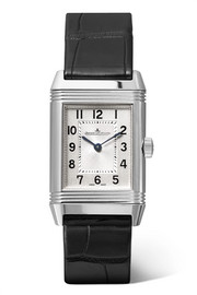 Reverso Classic small stainless steel and alligator watch