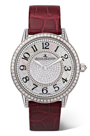 Rendez-Vous Night & Day Ivy 34mm 18-karat white gold, diamond and alligator watch