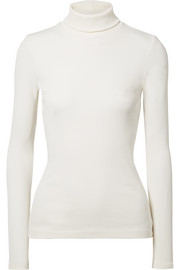 The Rib stretch cotton-blend turtleneck top