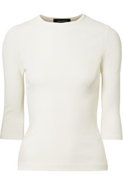 Goldsign The Rib stretch cotton-blend top