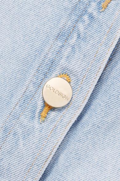 Goldsign The Button Front Midirock aus Denim