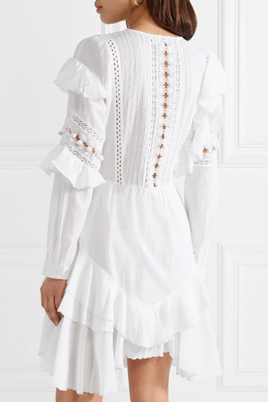 SEA Weatherly Kleid aus einer Baumwollmischung mit Häkeleinsätzen