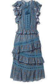 a7104d6d128 SEA - Rosalie ruffled printed cotton-blend voile midi dress