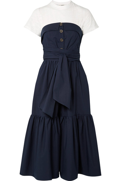 Sea beatrix Multilayer Midi Dress From A Cotton Blend