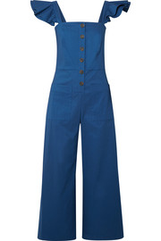 SEA Callie ruffle-trimmed woven jumpsuit
