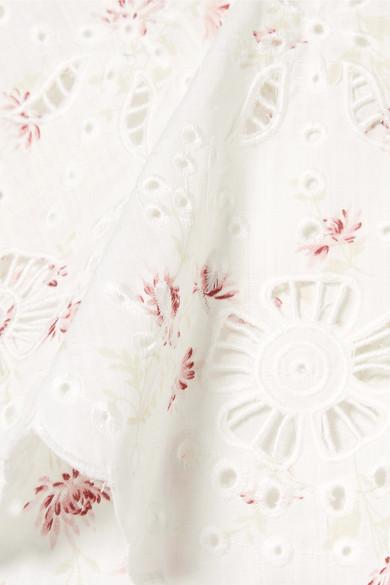 SEA Alouette asymmetrisches Oberteil aus floral bedruckter Baumwolle