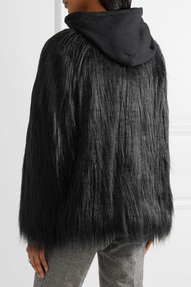 House of Fluff Yeti Oversized-Jacke aus Faux Fur und Frottee mit Kapuze