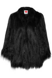 Yeti convertible oversized faux fur coat