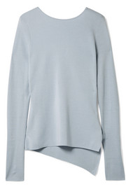 Cutout silk and cashmere-blend jersey sweater