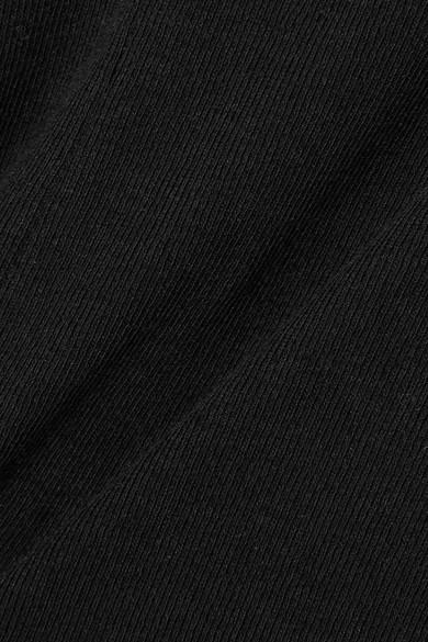 Rosetta Getty Asymmetrisches Oberteil aus Baumwoll-Jersey