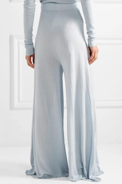 Rosetta Getty Jersey-Hose mit weitem Bein aus einer Seiden-Kaschmirmischung
