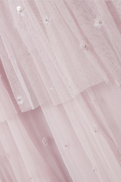 Needle & Thread Mirage gestuftes Kleid aus Tüll mit Verzierung Outlet Online Bestellen EuM786lNg
