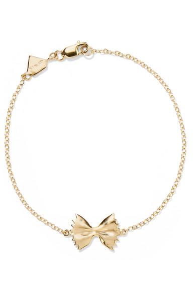Alison Lou Bowtie 14-karat Gold Bracelet axjuPjt