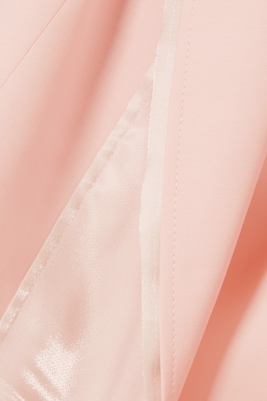 ADEAM Doppelreihiger Blazer aus einer Wollmischung mit Satinbesatz